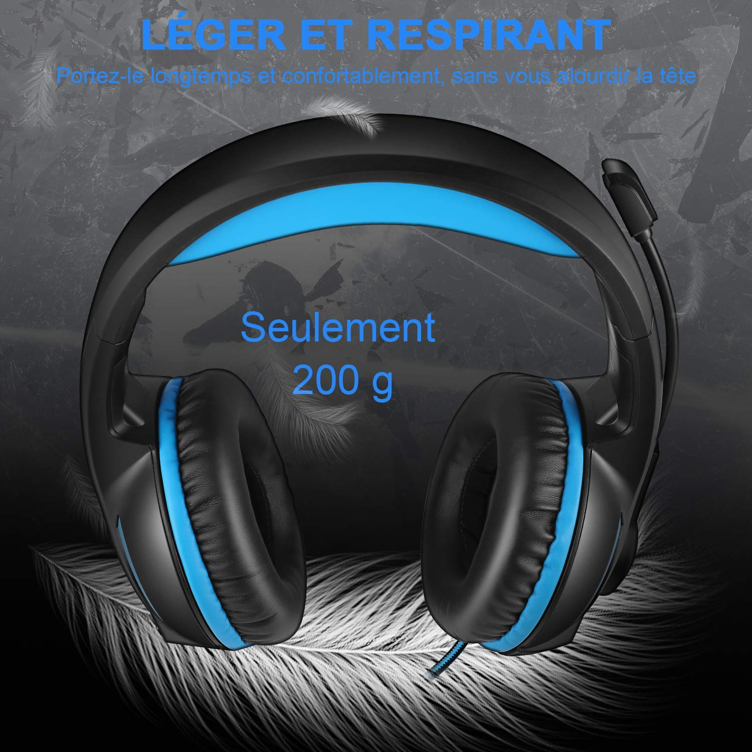 YINSAN Casque Gaming PS4, Casque Gamer Xbox One